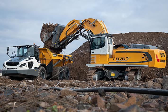 Two new local zero emission excavators from Liebherr: R 976-E and R 980 SME-E electric crawler excavators