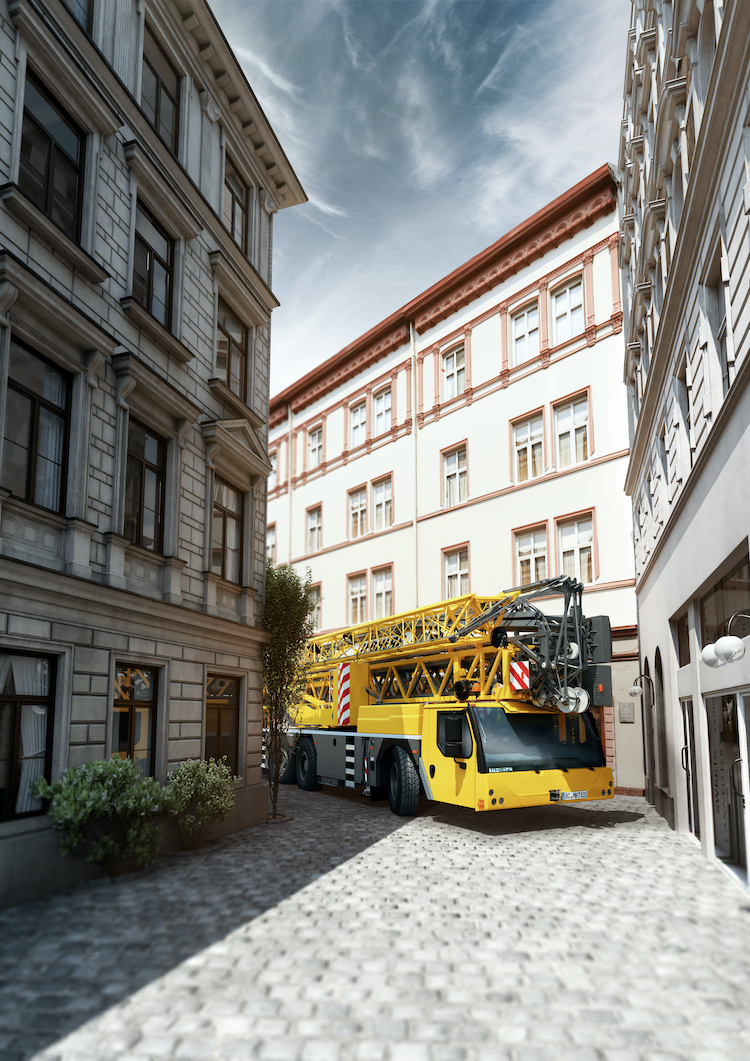 The new MK 73-3.1 mobile construction crane from Liebherr: a compact taxi crane with optimal reach