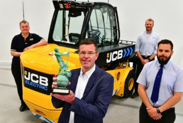 Award honours green credentials of JCB's electric Teletruk
