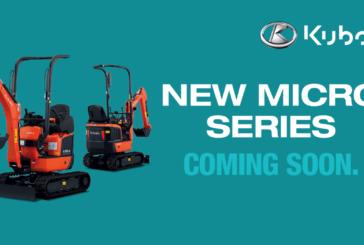Kubota launches new and improved micro excavators