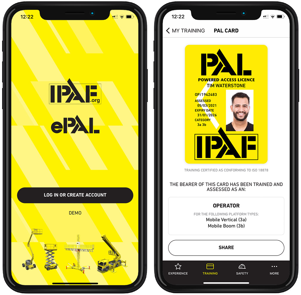 Boss Training backing IPAF's future-proof health and safety training with new ePAL app for online certification and scheduling.