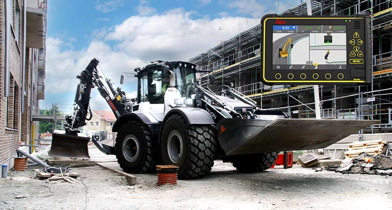 Leica Geosystems and Huddig collaborate to launch a new 3D machine control solution for their backhoe loaders