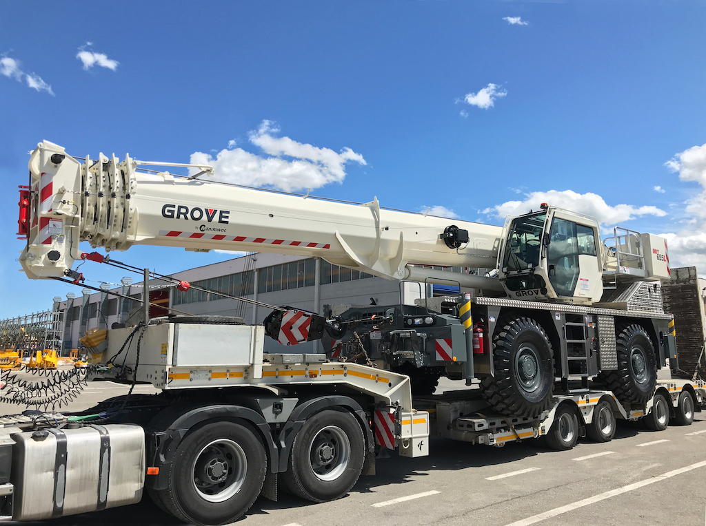 Five key points to know about the Grove GRT655 and GRT655L rough-terrain cranes