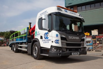 Oliver Connell & Son take delivery of Scania Hybrid truck