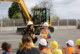 Nursery swaps toy diggers for real ones as Winvic puts on a playground construction show