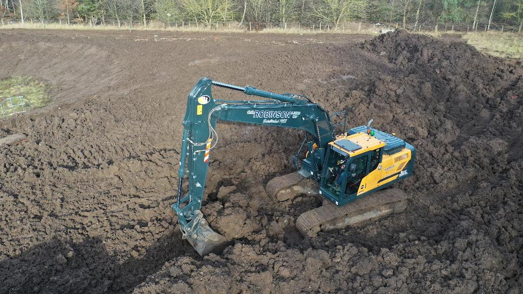CG Robinson takes delivery of the first HX210A Hyundai crawler excavator in the UK
