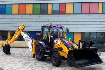 New JCB helps Lomond dig deep for children's charity