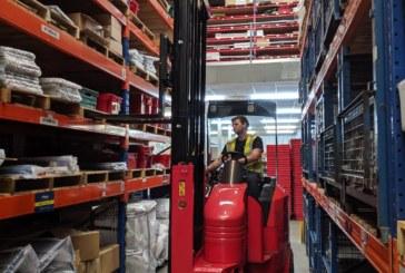 New warehouse truck safety device slashes product damage